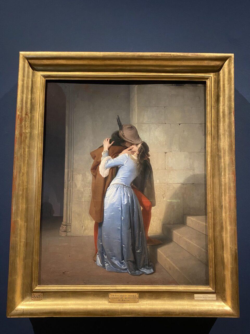 """Fotografia del quadro """"il bacio"""" di Hayez"""