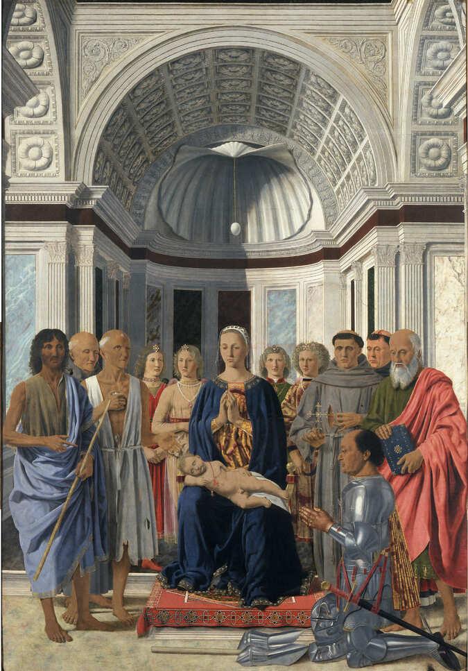 Fotografia del quadro di Piero dalla Francesca